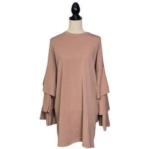 Boutique Ruffle Sleeve Sweatshirt Tunic Dress 14